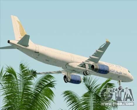 Airbus A321-200 Gulf Air for GTA San Andreas upper view