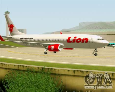 Boeing 737-800 Lion Air for GTA San Andreas inner view
