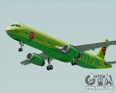 Airbus A321-200 S7 - Siberia Airlines for GTA San Andreas inner view