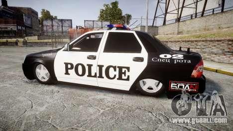 VAZ-2170 Priora Police for GTA 4 left view