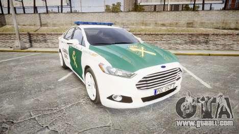 Ford Mondeo 2014 Guardia Civil Cops [ELS] for GTA 4