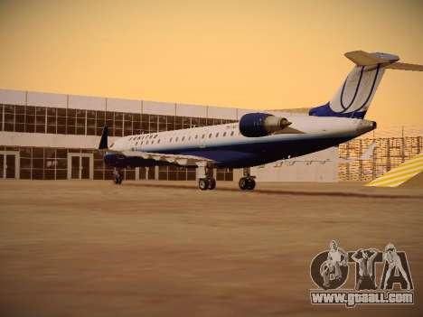 Bombardier CRJ-700 United Express for GTA San Andreas right view