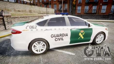 Ford Mondeo 2014 Guardia Civil Cops [ELS] for GTA 4 left view