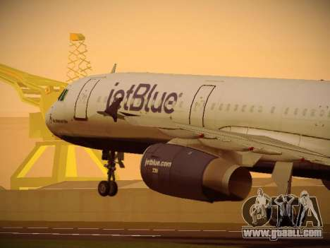 Airbus A321-232 jetBlue Red White and Blue for GTA San Andreas