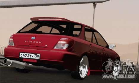 Subaru Impreza Wagon 2002 for GTA San Andreas left view