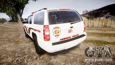 Chevrolet Suburban 2008 Police [ELS] Red & Blue for GTA 4 back left view