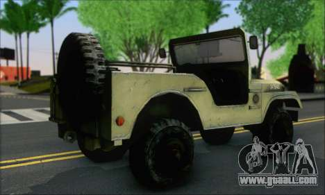 Jeep From The Bureau XCOM Declassified for GTA San Andreas left view