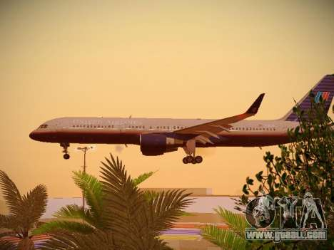 Boeing 757-224 United Airlines for GTA San Andreas inner view