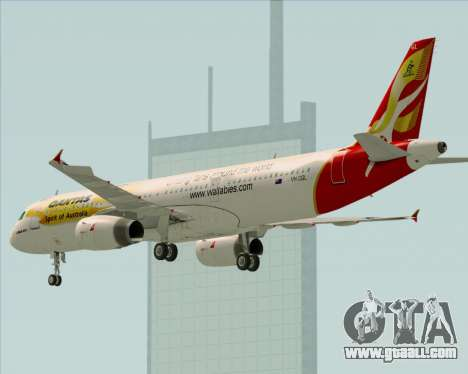 Airbus A321-200 Qantas (Wallabies Livery) for GTA San Andreas wheels
