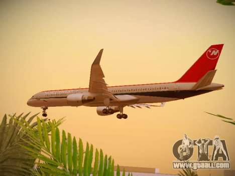 Boeing 757-251 Northwest Airlines for GTA San Andreas side view