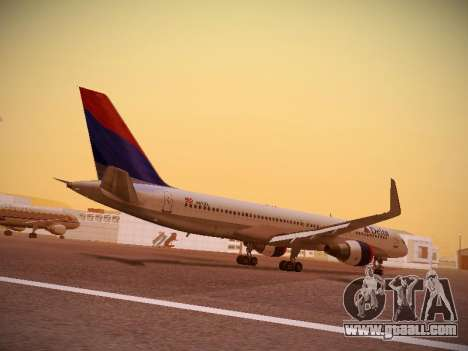 Boeing 757-232 Delta Airlines for GTA San Andreas right view