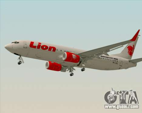 Boeing 737-800 Lion Air for GTA San Andreas left view