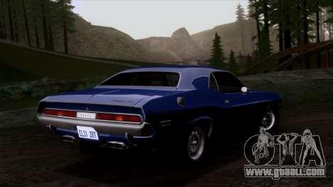 Dodge Challenger 426 Hemi (JS23) 1970 (HQLM) for GTA San Andreas inner view