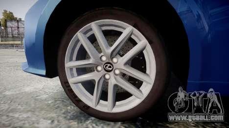 Lexus IS 350 F-Sport 2014 Rims1 for GTA 4 back view
