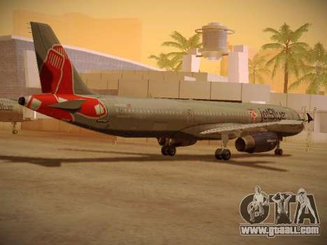 Airbus A321-232 jetBlue Boston Red Sox for GTA San Andreas right view