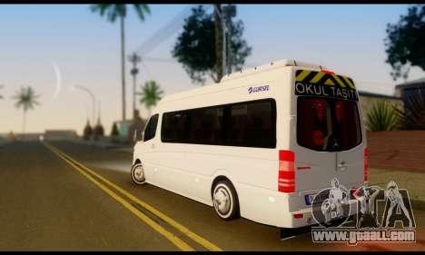 Mercedes-Benz Sprinter School Bus for GTA San Andreas left view