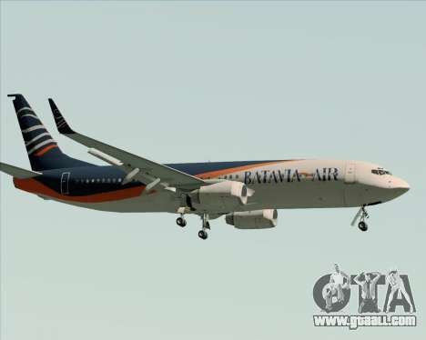 Boeing 737-800 Batavia Air (New Livery) for GTA San Andreas back view