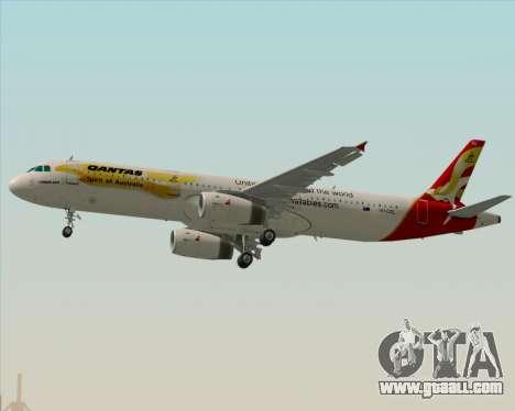 Airbus A321-200 Qantas (Wallabies Livery) for GTA San Andreas engine