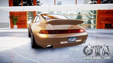 Porsche 911 Carrera RS 993 1995 for GTA 4 back left view