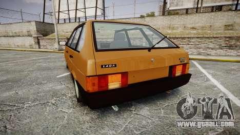 VAZ-2109 1500 i for GTA 4 back left view