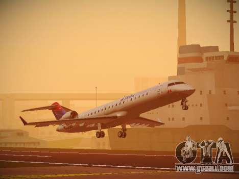 Bombardier CRJ-700 Delta Connection for GTA San Andreas left view