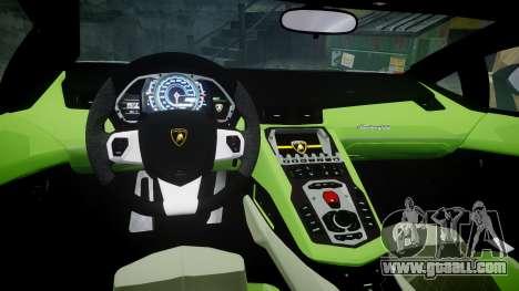 Lamborghini Aventador 50th Anniversary Roadster for GTA 4 inner view