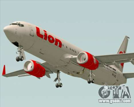 Boeing 737-800 Lion Air for GTA San Andreas right view