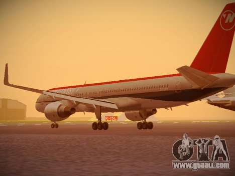 Boeing 757-251 Northwest Airlines for GTA San Andreas back left view