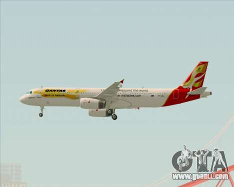 Airbus A321-200 Qantas (Wallabies Livery) for GTA San Andreas right view