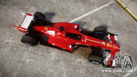 Ferrari F138 v2.0 [RIV] Alonso TFW for GTA 4 right view