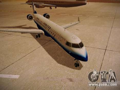 Bombardier CRJ-700 United Express for GTA San Andreas back view