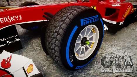 Ferrari F138 v2.0 [RIV] Alonso TFW for GTA 4 back view