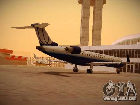 Bombardier CRJ-700 United Express for GTA San Andreas back left view