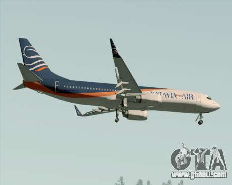 Boeing 737-800 Batavia Air (New Livery) for GTA San Andreas upper view