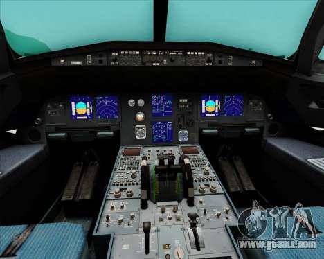 Airbus A321-200 Qantas (Wallabies Livery) for GTA San Andreas interior