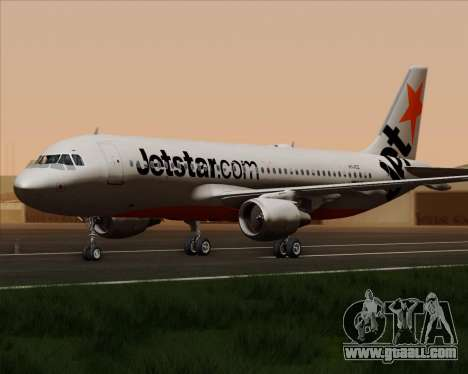 Airbus A320-200 Jetstar Airways for GTA San Andreas back view