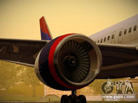Boeing 757-232 Delta Airlines for GTA San Andreas engine
