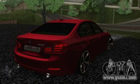 BMW 3 Series F30 2013 for GTA San Andreas left view