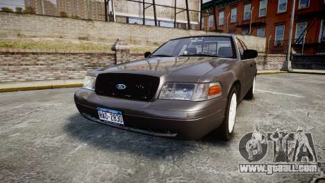 Ford Crown Victoria Unmarked Police [ELS] for GTA 4