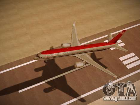 Boeing 757-251 Northwest Airlines for GTA San Andreas back view