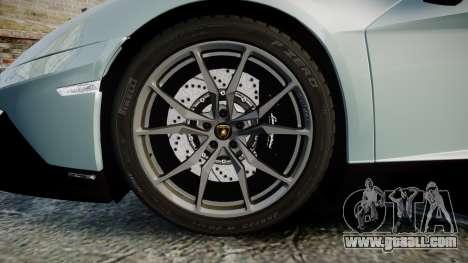Lamborghini Aventador 50th Anniversary Roadster for GTA 4 back view