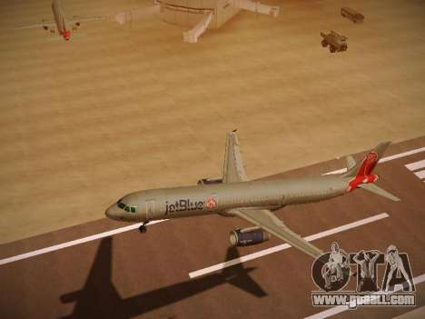 Airbus A321-232 jetBlue Boston Red Sox for GTA San Andreas inner view