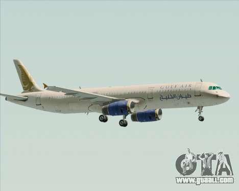 Airbus A321-200 Gulf Air for GTA San Andreas inner view