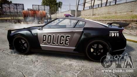 GTA V Annis Elegy RH8 Police [ELS] for GTA 4 left view