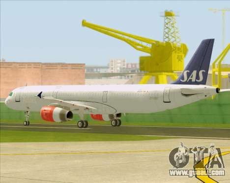 Airbus A321-200 Scandinavian Airlines System for GTA San Andreas upper view