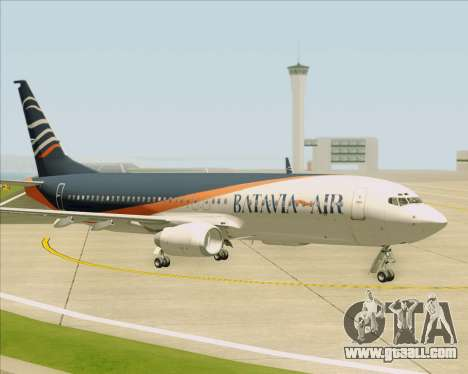 Boeing 737-800 Batavia Air (New Livery) for GTA San Andreas bottom view