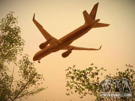 Boeing 757-224 United Airlines for GTA San Andreas upper view