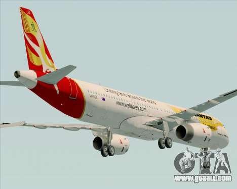 Airbus A321-200 Qantas (Wallabies Livery) for GTA San Andreas upper view