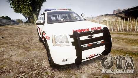 Chevrolet Suburban 2008 Police [ELS] Red & Blue for GTA 4