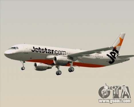 Airbus A320-200 Jetstar Airways for GTA San Andreas bottom view